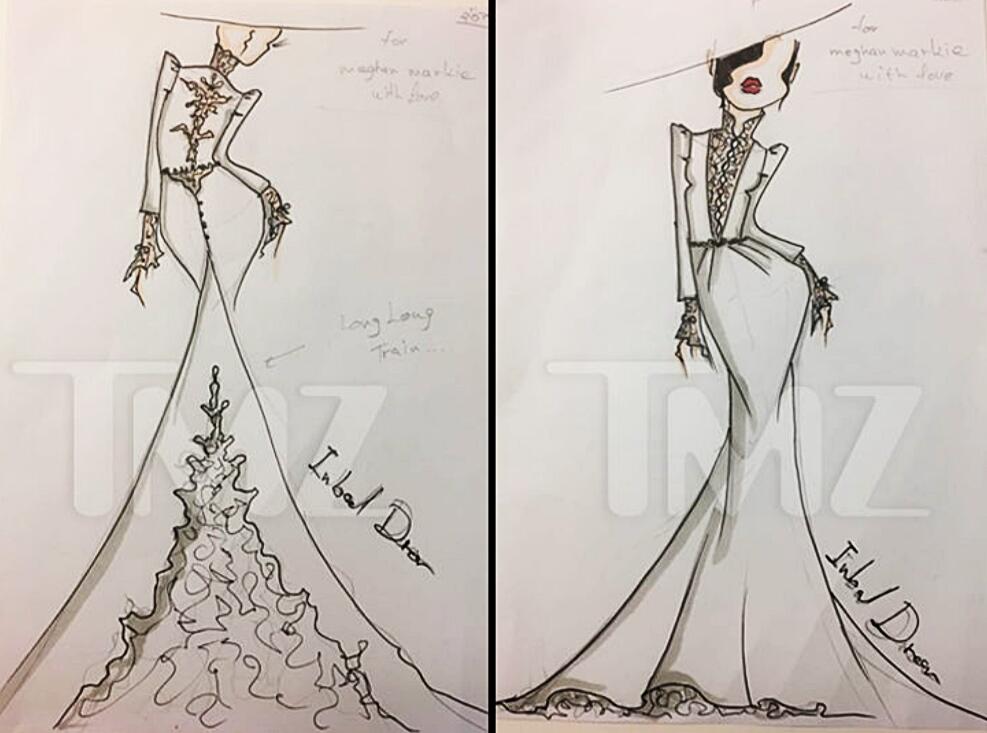 Maghan Markle szkic sukni ślubnej