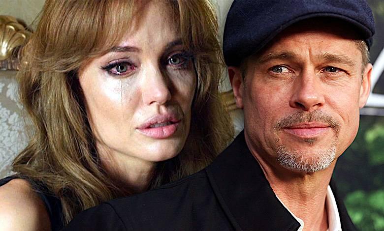 Angelina Jolie płacze, Brad Pitt
