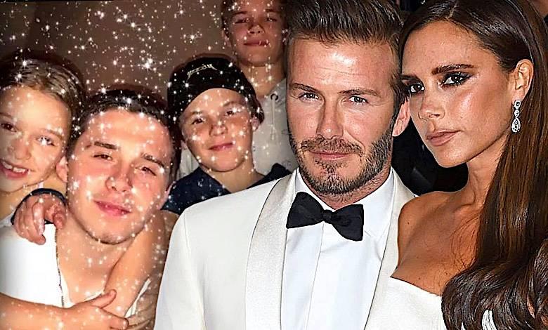 David Victoria Beckham zdjęcia ze świąt
