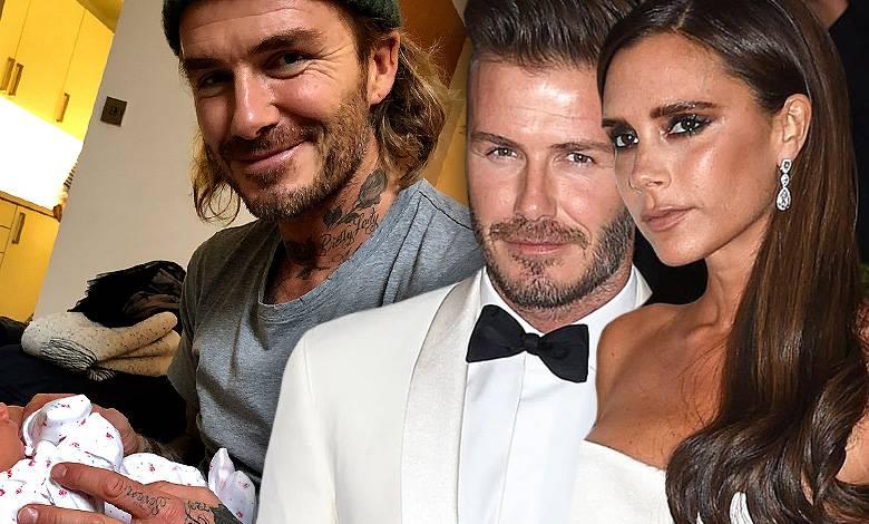 David Beckham z dzieckiem