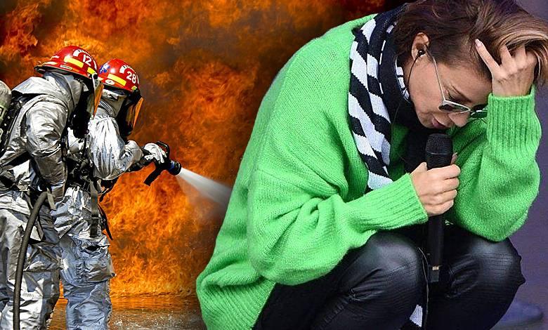 Edyta Górniak ucieka przed pożarem w Kalifornii