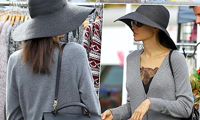 Angelina Jolie na świątecznych zakupach
