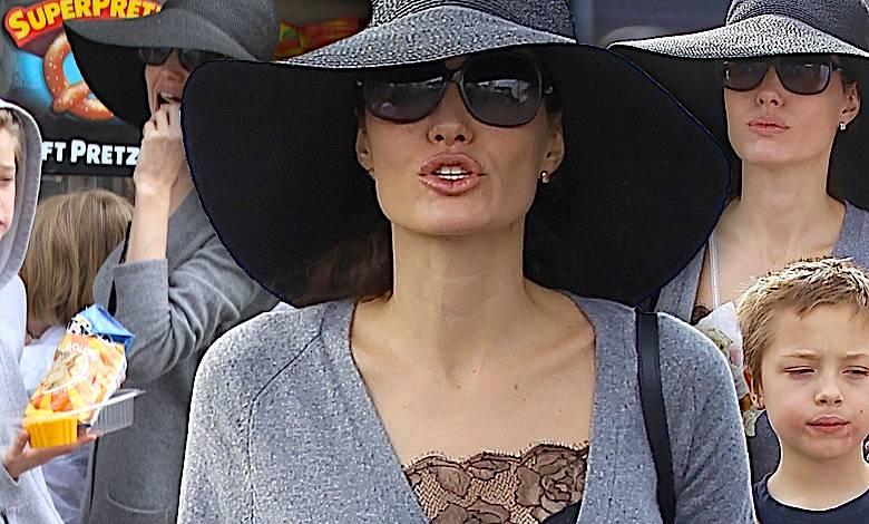 Angelina Jolie i Shiloh jedzą fastfoody