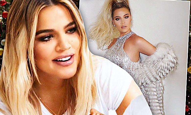 Khloe Kardashian ciążowy brzuszek święta