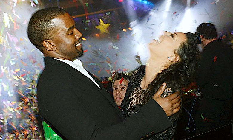 Sylwester 2017 Kim Kardashian i Kanye Westa