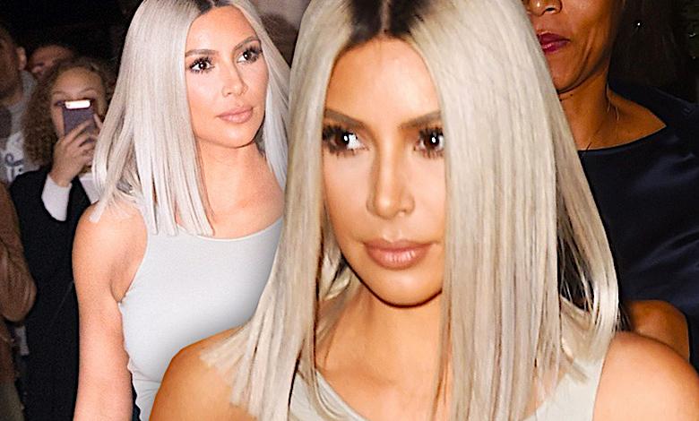 Kim Kardashian w sukience z dziurą