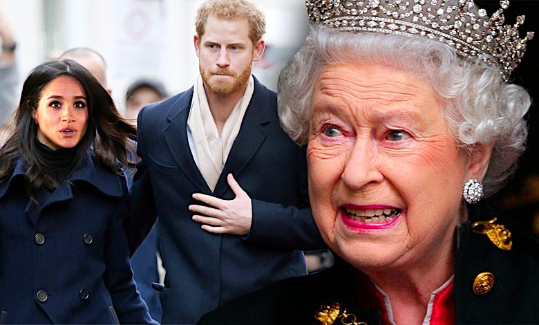 Książę Harry i Meghan Markle, królowa Elżbieta II