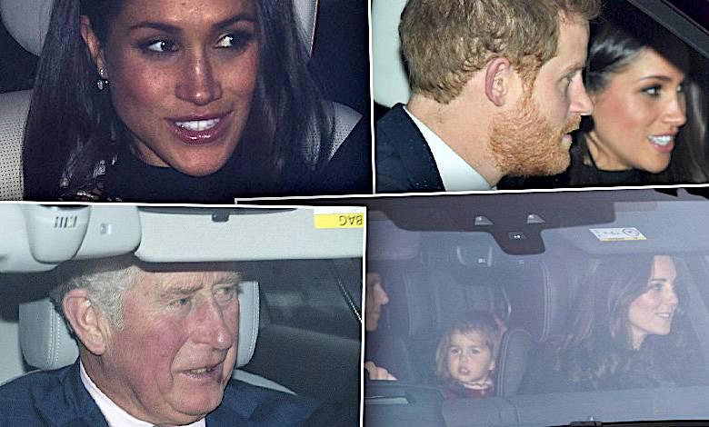 Rodzina królewska na świątecznym spotkaniu