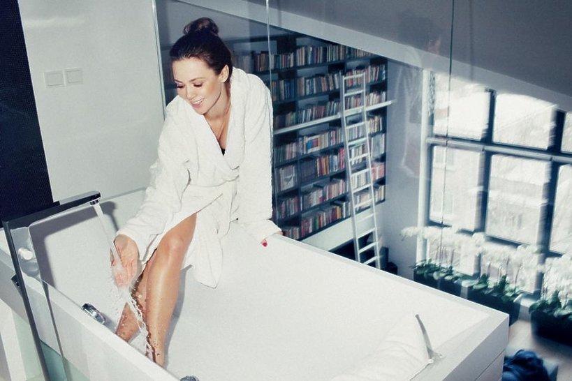 Zdjęcie (2) Kinga Rusin mieszka jak światowa gwiazda! Jej stylowy apartament robi wrażenie