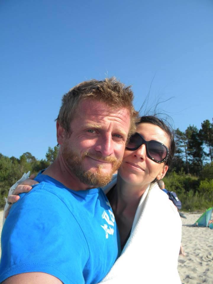 Tomasz Mackiewicz z żoną, Anną