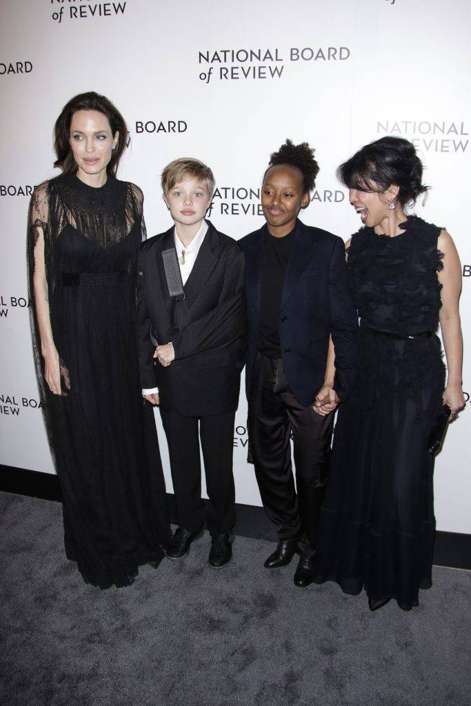 Angelina Jolie i Zahara oraz Shiloh Jolie-Pitt - National Board of Review Awards 2018