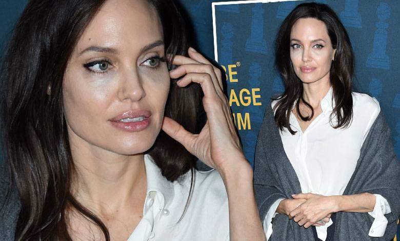 Angelina Jolie na sympozjum przed Złotymi Globami