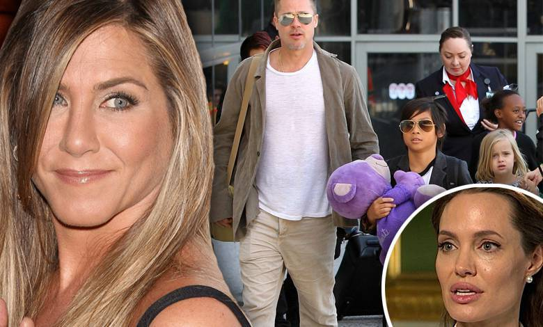 Jennifer Aniston poznała dzieci Brada Pitta