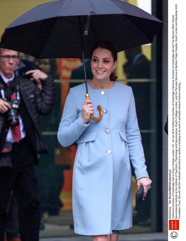 Księżna Kate w King's College w Londynie