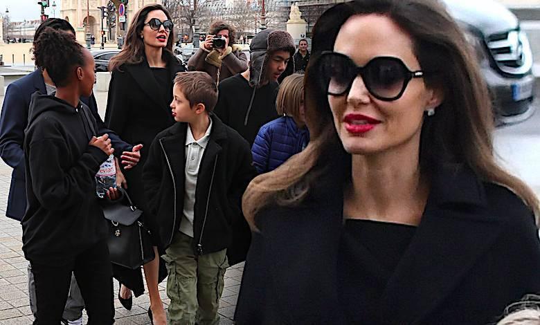 Angelina Jolie, dzieci, Paryż, Luwr 2018
