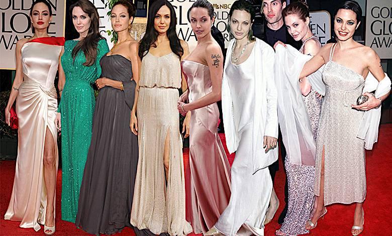 Angelina Jolie Złote Globy kreacje