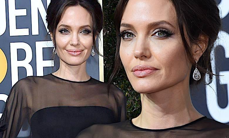 Angelina Jolie Złote Globy 2018 kreacja
