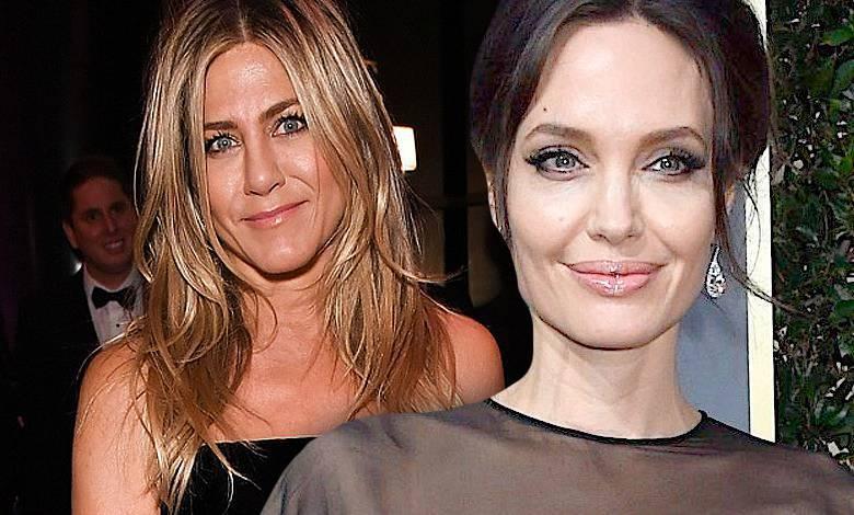 Jennifer Aniston i angelina jolie złote globy 2017