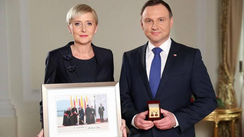 Andrzej Duda i Agata dla WOŚP