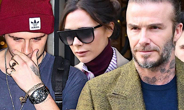 David, Victoria, Brookyln Beckhamowie w Paryżu