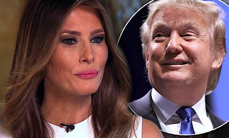 Melania Trump płacze przez Donalda