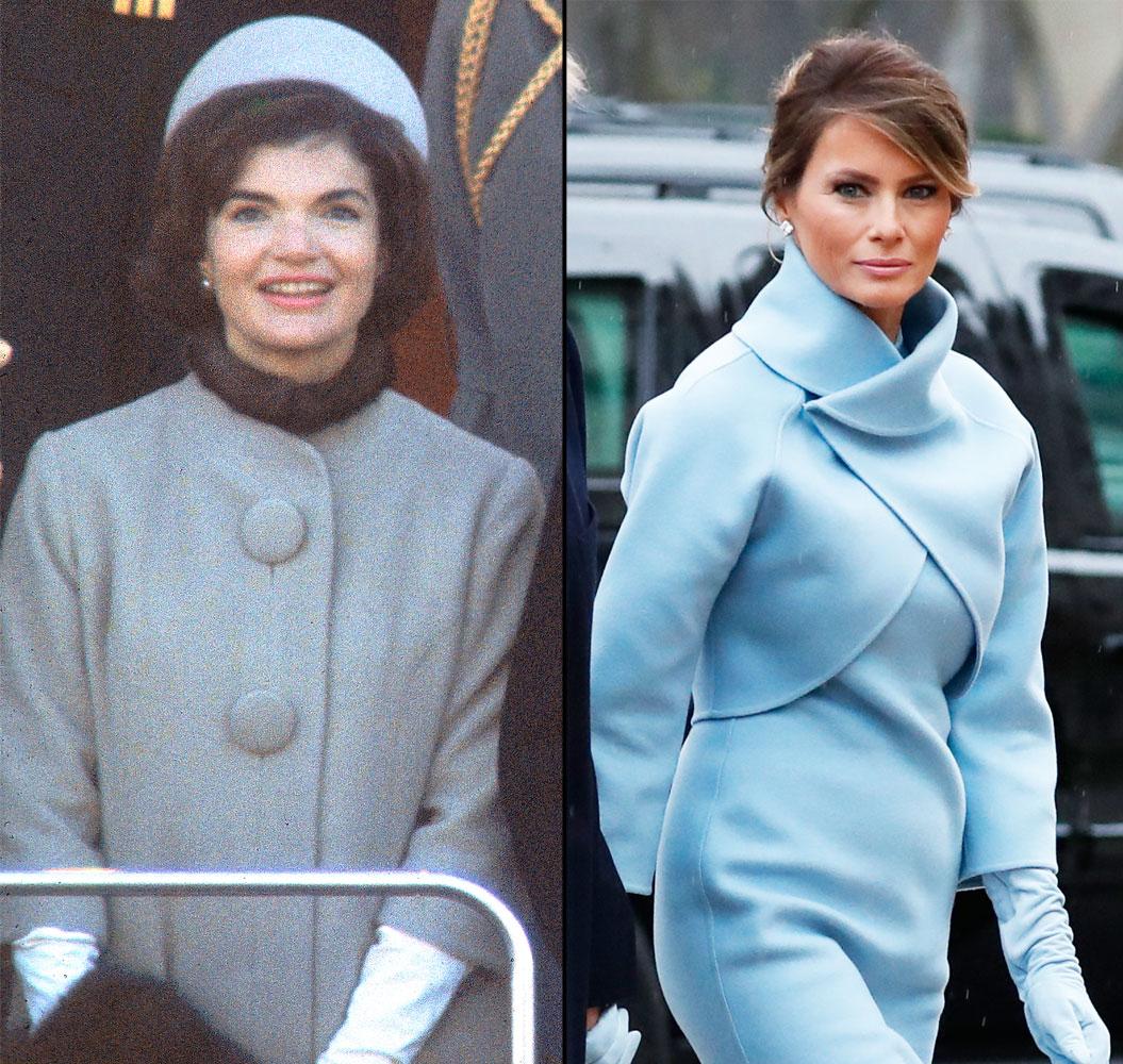 Melania Trump na zaprzysiężeniu Donalda Trumpa na prezydenta USA wybrała kreację inspirowaną stylem Jackie Kennedy