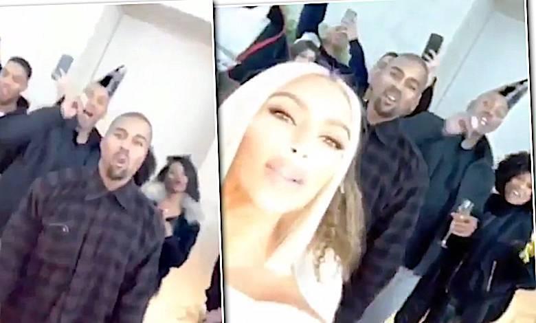 Kim Kardashian i Kanye West Sylwester 2017