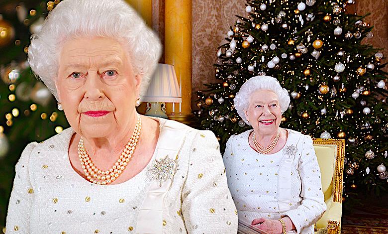 Królowa Elżbieta II, choinka