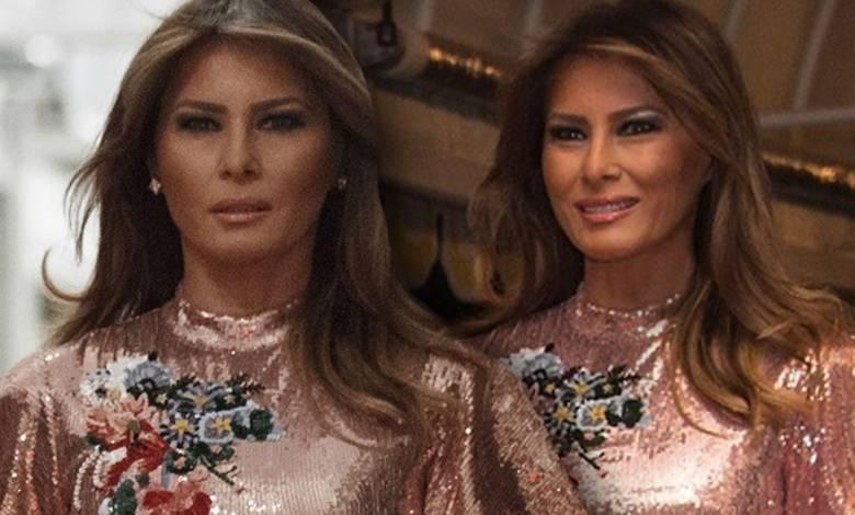 Melania Trump z mężem na balu sylwestrowym
