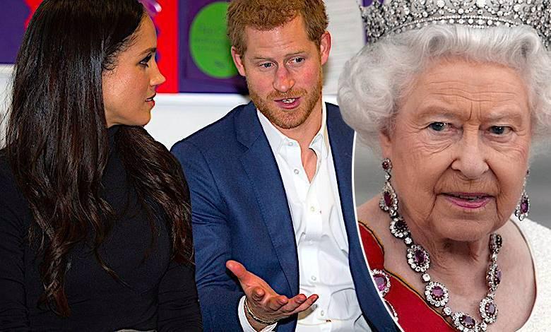 Meghan Markle i królowa Elżbieta II intercyza z Harrym