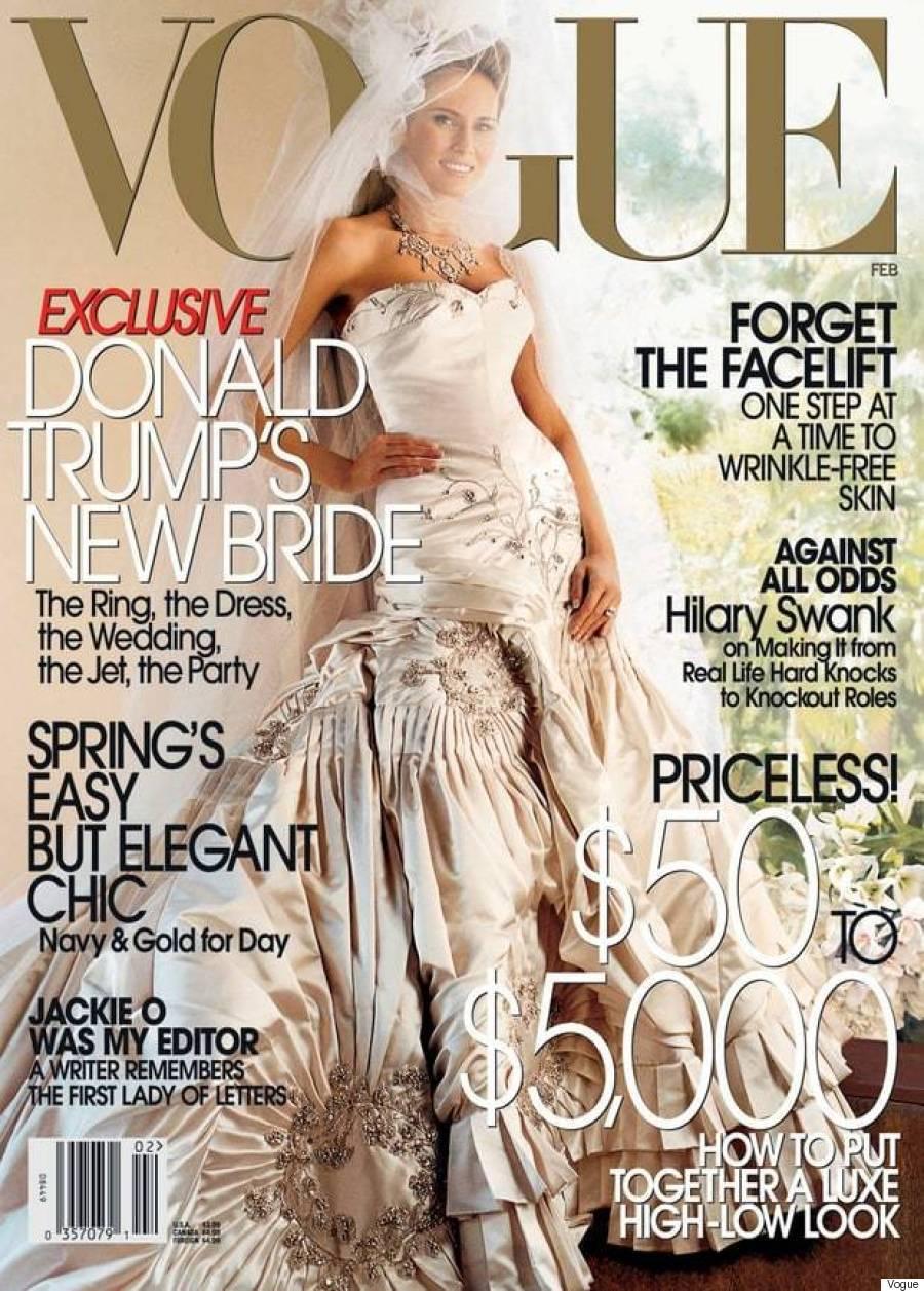 Melanai Trump w ślubnej sesji dla magazynu VOGUE