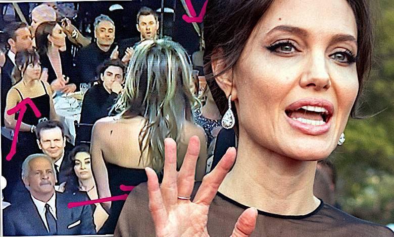 Angelina Jolie, Jennier Aniston, konfrontacja Złote Globy 2018