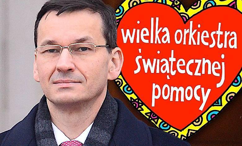 Mateusz Morawiecki WOŚP 2018