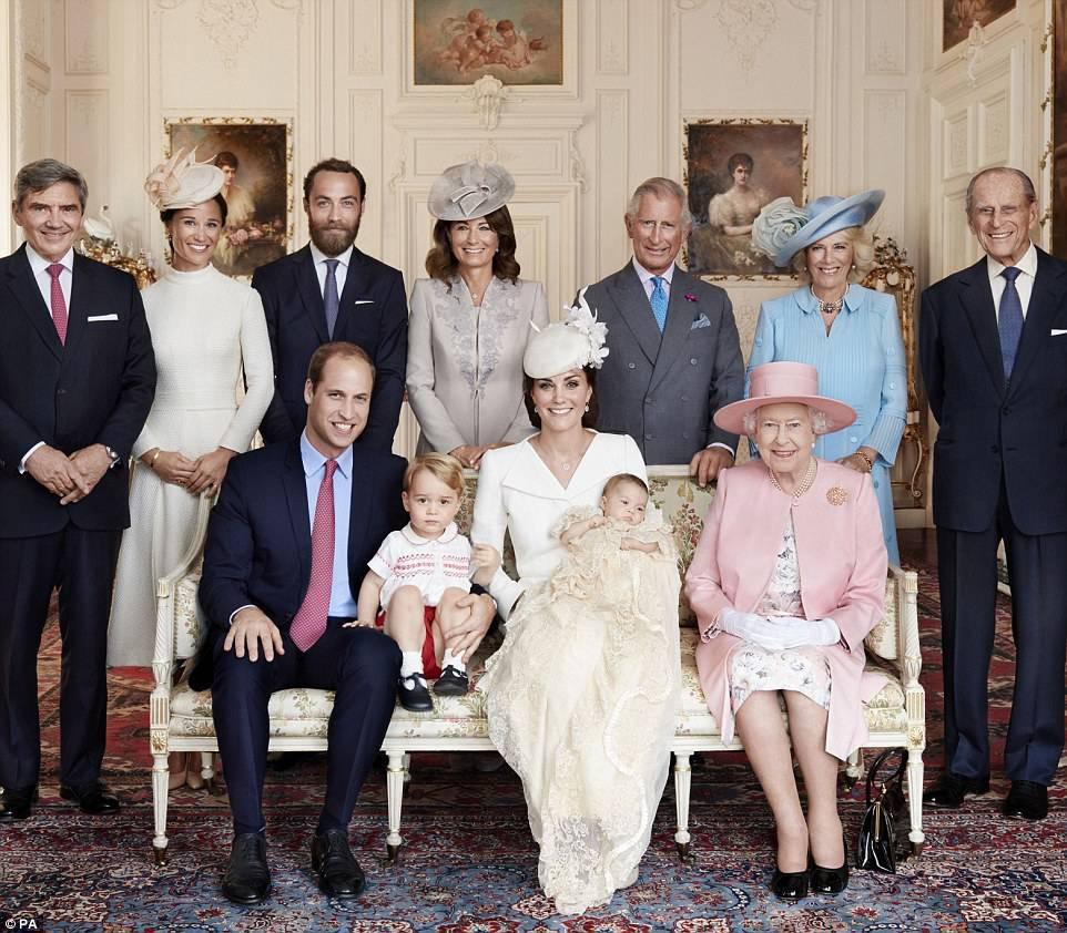 Portret brytyjskiej rodziny królewskiej