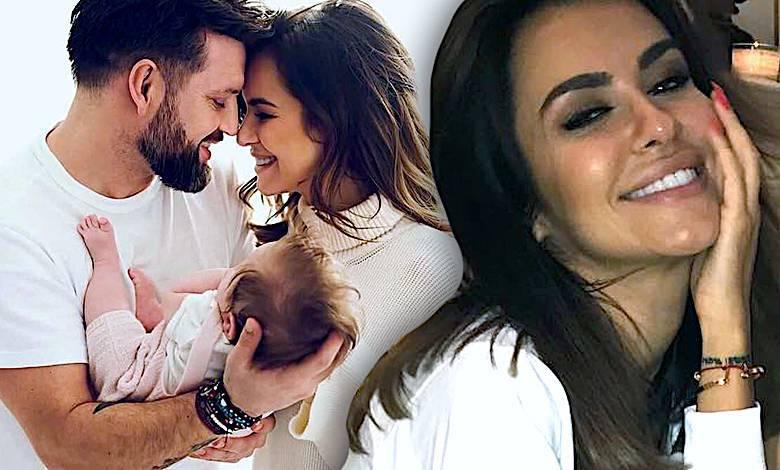 Natalia Siwiec z córką i mężem
