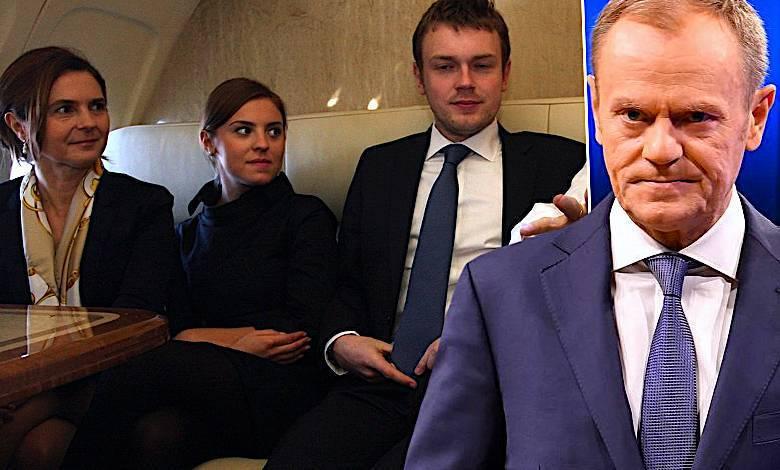 Donald Tusk, rodzina, Michał , Kasia