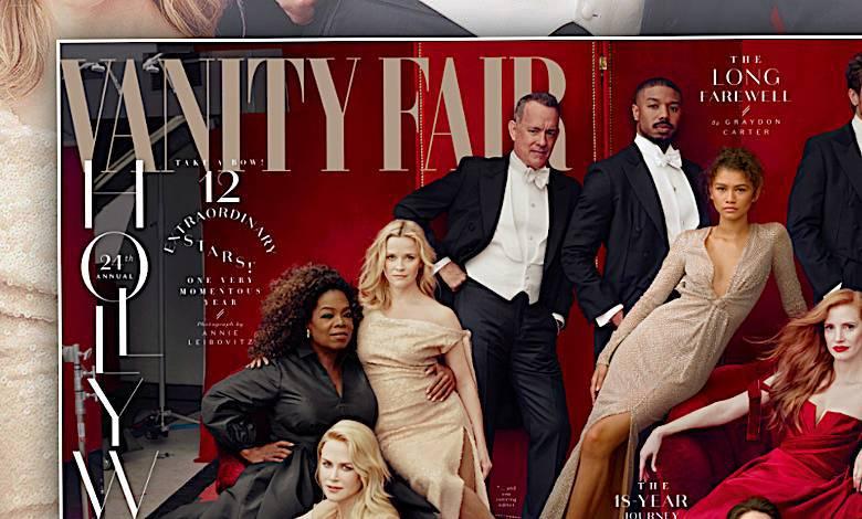 Vanity Fair marzec 2018 okładka z gwiazdami
