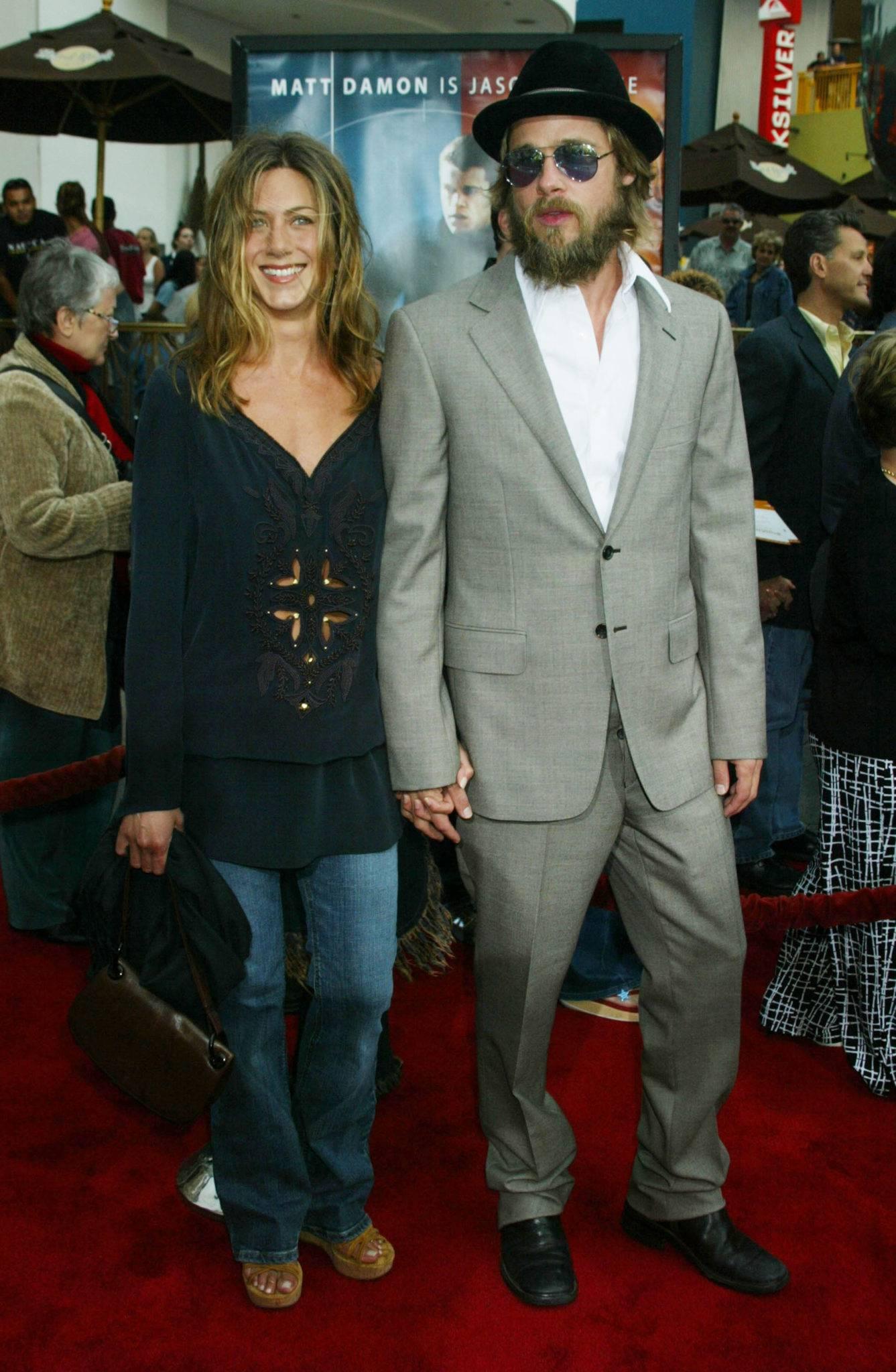 Jennifer Aniston i Brad Pitt po ślubie