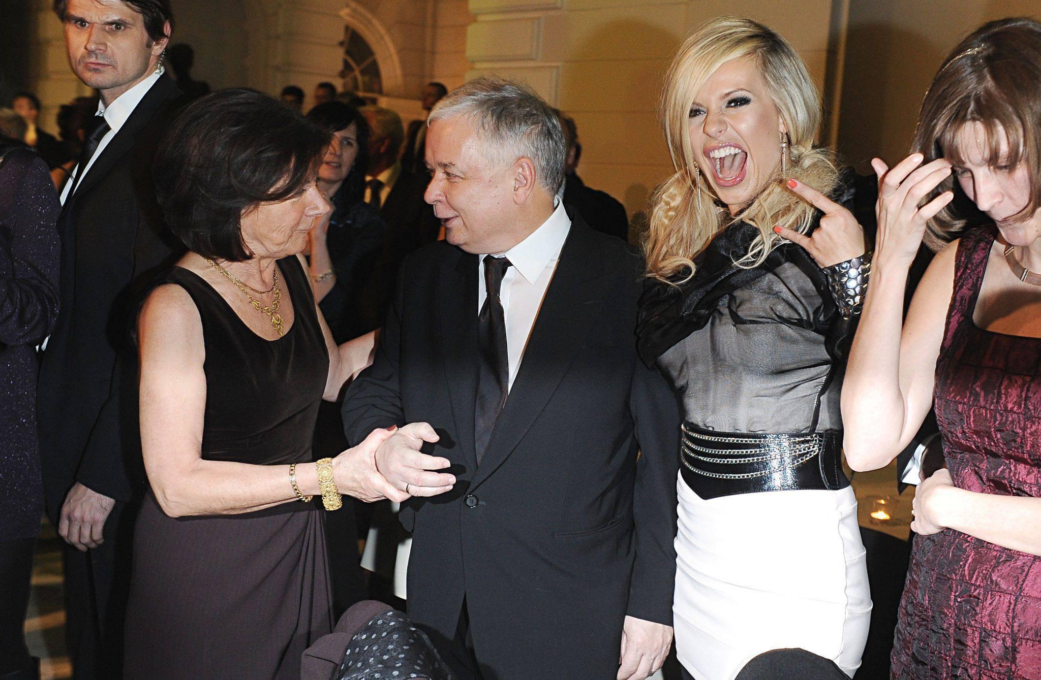 Spotkanie byłego prezydenta Lecha Kaczyńskiego z piosenkarką Dorotą Rabczewską