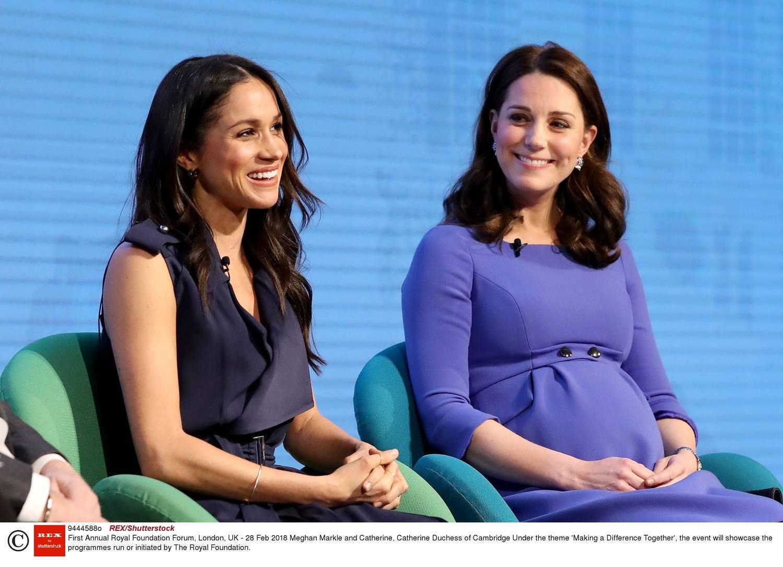 Meghan Markle i księżna Kate na forum królewskiej fundacji