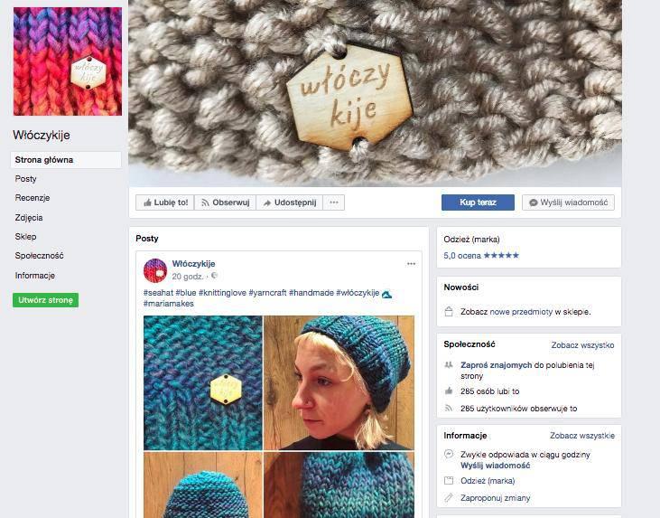 Córka Zamachowskiego sprzedaje czapki na Facebooku