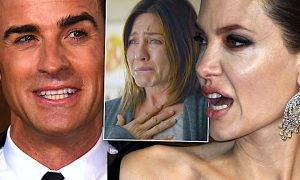 Angelina Jolie, Justin Theroux i Jennifer Aniston wojna
