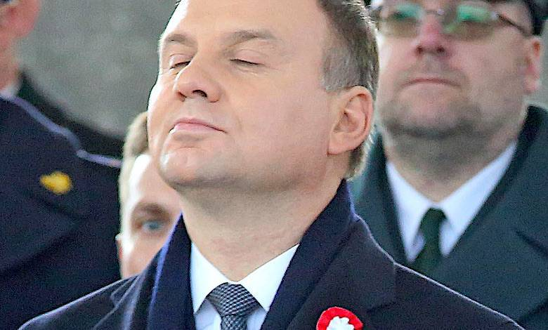Andrzej Duda obrażony wpadka