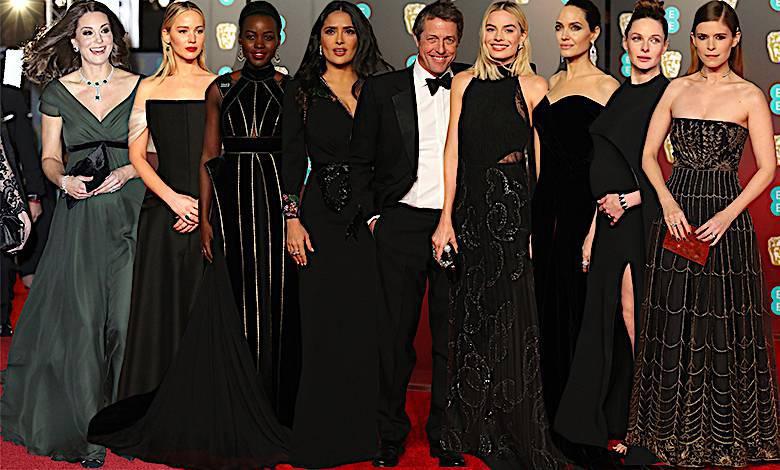 BAFTA 2018 kreacje gwiazd