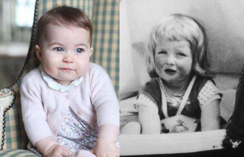 Księżna Diana i księżniczka Charlotte są do siebie podobne