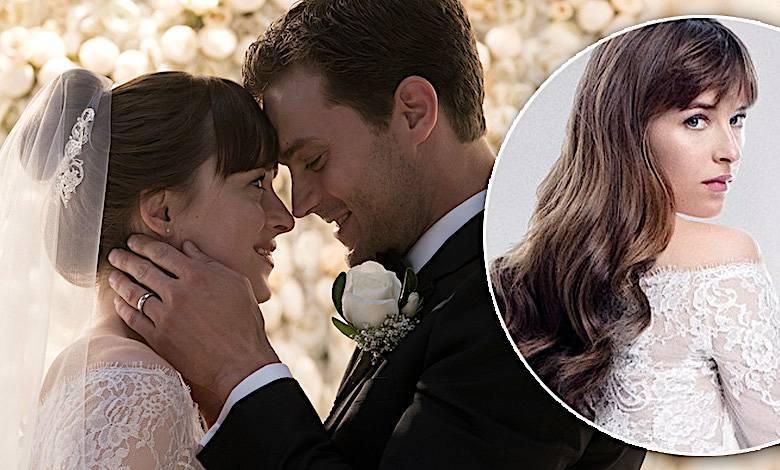 Nowe oblicze Greya, suknia ślubna, Dakota Johnson Anastasia