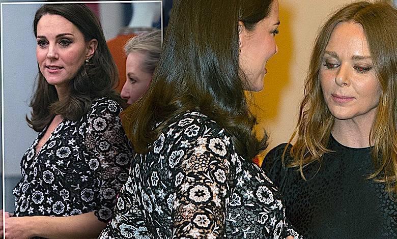 Księżna Kate z dużym ciążowym brzuchem