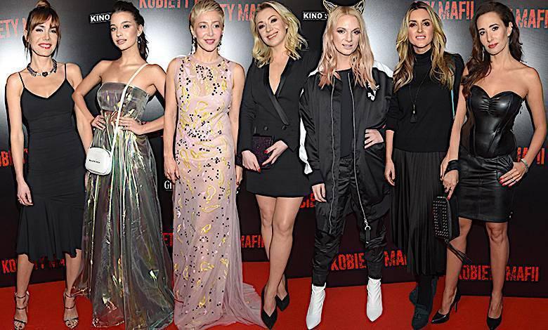 Kobiety mafii gwiazdy na premierze filmu