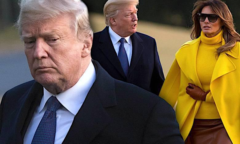 Melania Trump odtrąciła rękę Donalda