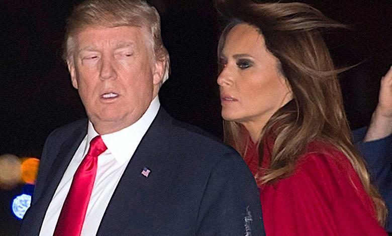Melania Trump i Donald kryzys